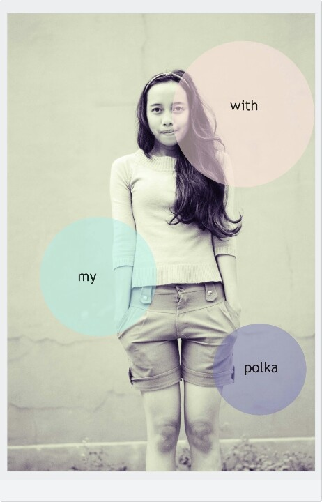 """With my polka"" Camera nikon d 3000 + photoshop + photoscape  Model (shinta) photo & editing (vita)"