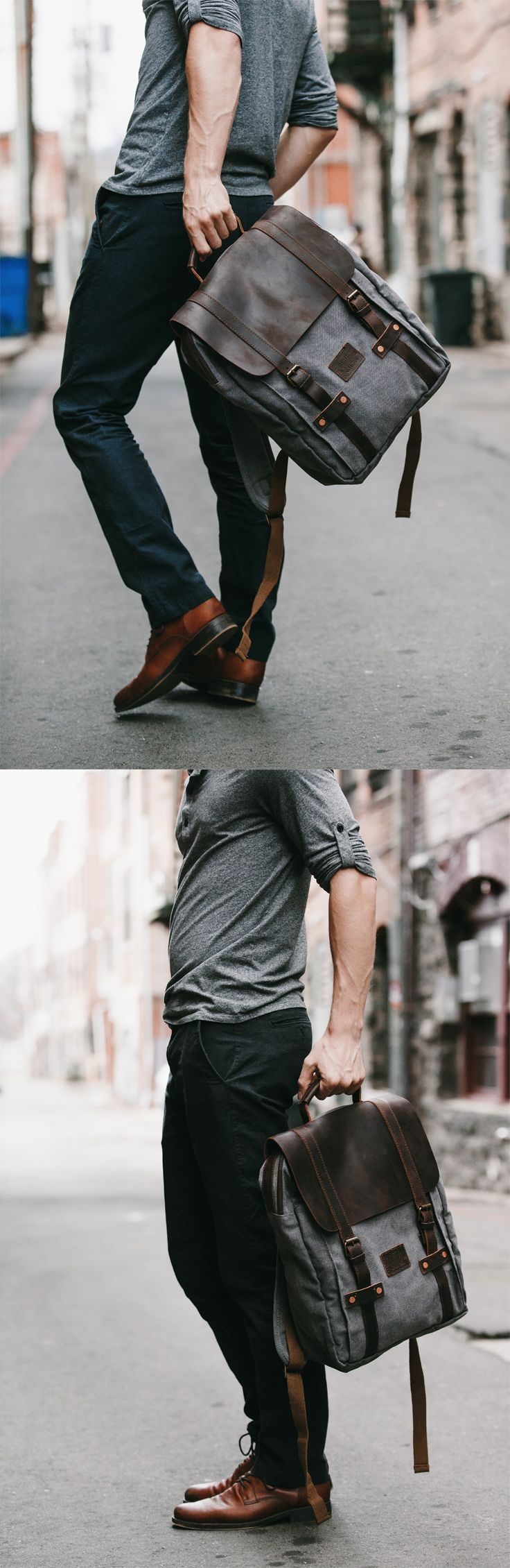 """waxed canvas bag,hipster backpack,backpacks,Men's backpack,canvas backpack,gray backpack,travel backpack,men's canvas bag,men's bag,new york,mens rucksack,leather backpack,travel bag,waxed rucksack,canvas,laptop bag,waterproof backpack,water resitant bag,grey,brown,green,black,rugged,13""""laptop backpack,15""""backpack,durable,vintage,hipster,made in usa,made in america,cool,2016,stylish,cotton,leather,cow hide,copper rivets,PNW,pacific northwest,travel,hiking backpack,outdoor…"""