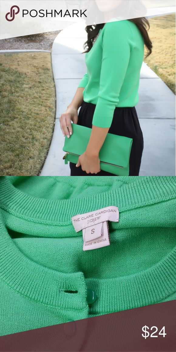 J.Crew clare cardigan Ladies size small, kelly green cardigan sweater by J.Crew.Perfect condition, no flaws! J. Crew Sweaters Cardigans