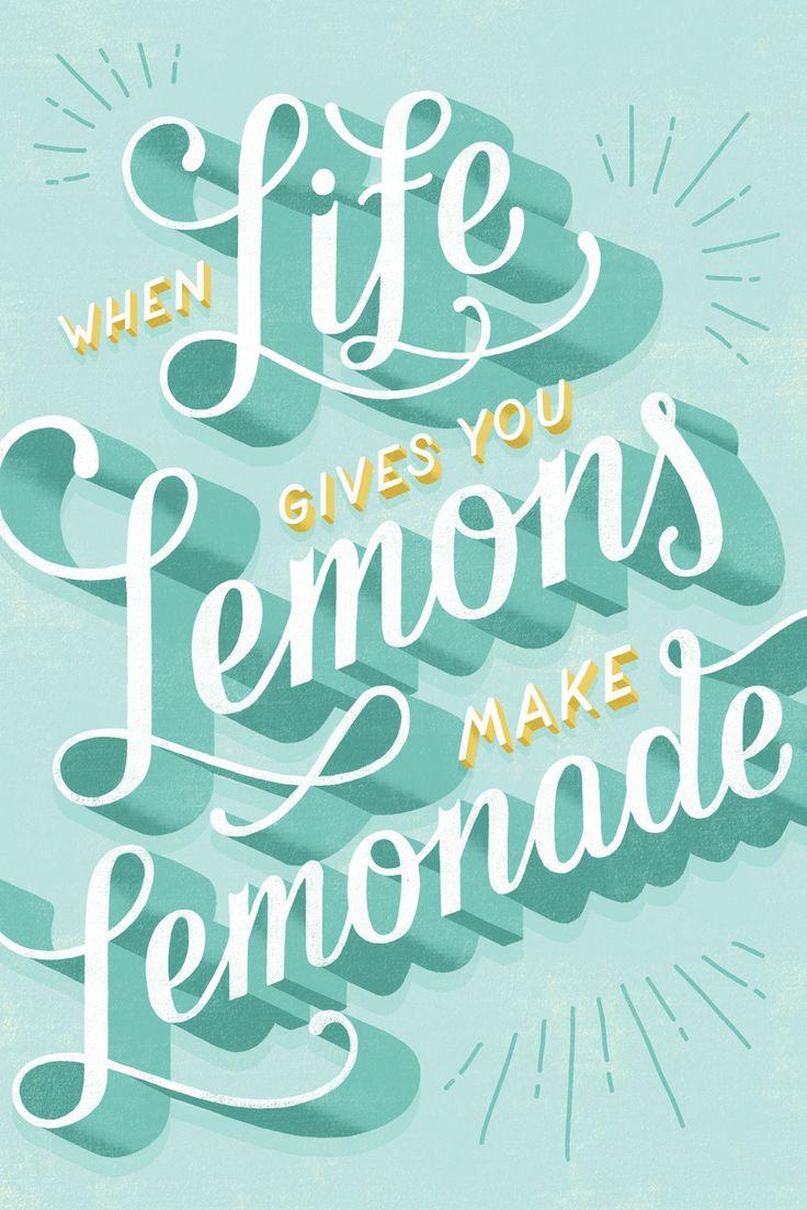 Lauren Hom / When Life Gives You Lemons #typography #lettering #illustration