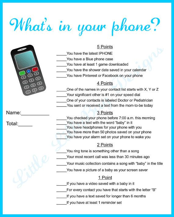 This is a graphic of Punchy What's in Your Cell Phone Game Free Printable