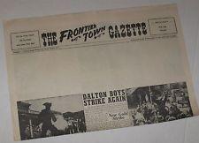 "Frontier Town Personalized Gazette Newspaper w/ Blank Headline 23"" x 17"""