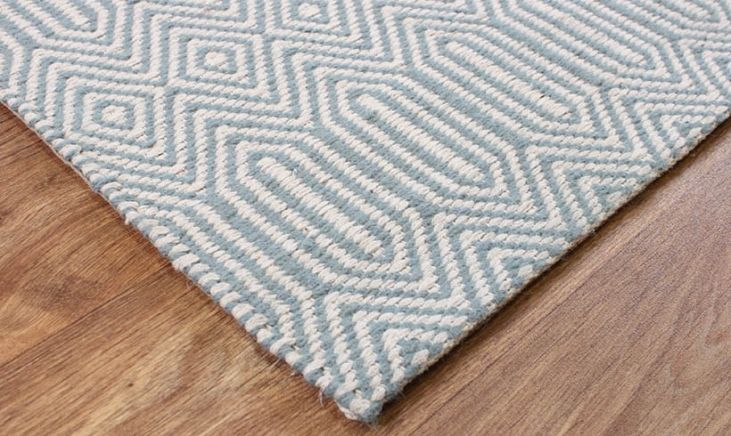 Sloan Duck Egg Geometric Rug #fishpools