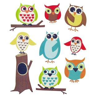 """Use these adorable Owl Stickers to add a colorful touch to a handmade card, a scrapbook, and more! With a colorful assortment of charming owls, these quirky stickers are perfect for adding whimsical flair to your most creative project.        Dimensions:      Smallest Sticker Length: 1""""    Smallest Sticker Width: 7/8""""    Largest Sticker Length: 3 1/4""""    Largest Sticker Width: 1 1/4""""          Package contains 2 sheets of the same 8 acid-free ..."""
