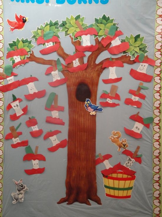 Best 25 apple bulletin boards ideas on pinterest for Apple tree classroom decoration