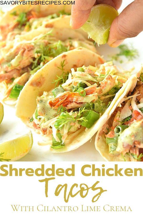 The Best Shredded Chicken Tacos Recipe Ever Recipe Shredded Chicken Tacos Shredded Chicken Taco Recipe Mexican Shredded Chicken