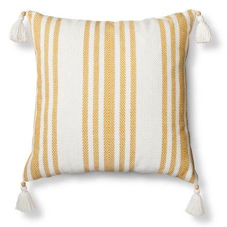 Woven Stripe Throw Pillow Yellow Threshold Target