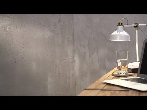 Mineral wall designs: exposed concrete appearance - YouTube