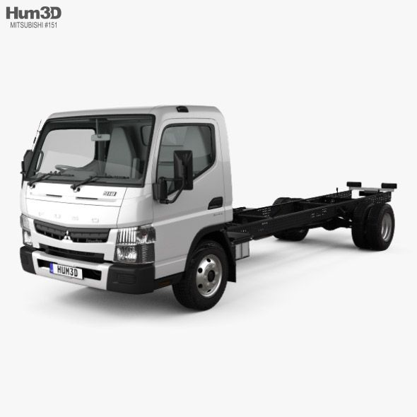 Mitsubishi Fuso Canter 918 Wide Single Cab Chassis Truck With Hq Interior 2016 Fully Customizable 3d Model Of A Truck 3d 3dmodel Mitsubishi Canter Trucks