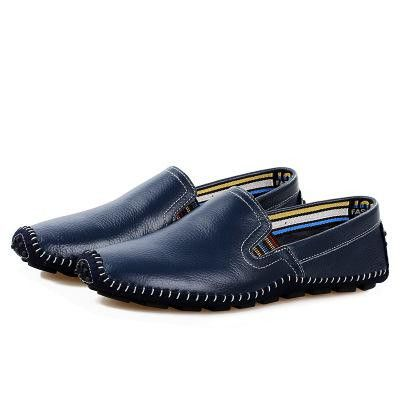 Real Leather Men Loafers For Men's Driving Casual Walking Shoes Comfortable Breathable Slip On Flats Moccasins 2016 Spring New