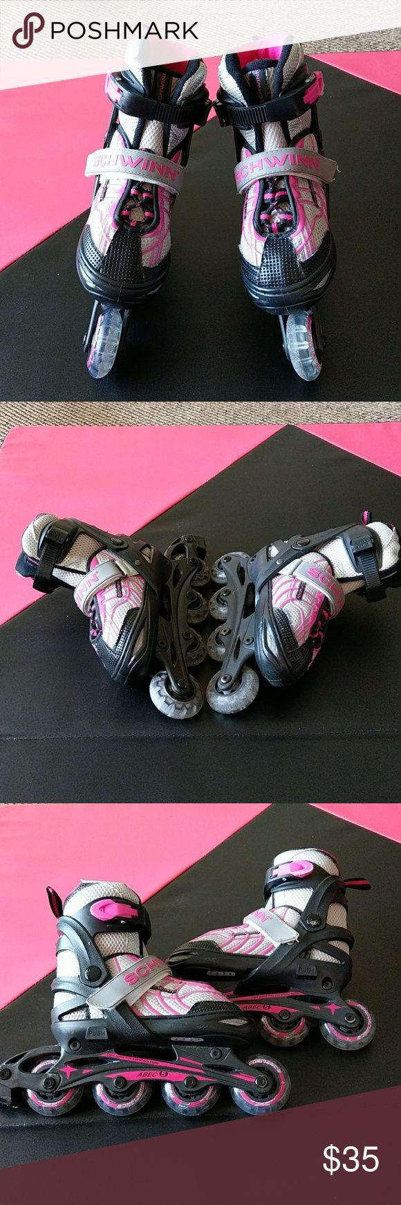 Schwinn Girls' Adjustable roller blades 1-4 Schwinn Girls' Adjustable Inline Skates/roller blades 1-4. schwinn Shoes