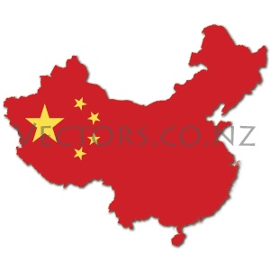 Flag Vector Map of China