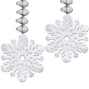 476 - Winter Wonderland Foil Snowflakes. Pack of 2  For more details, please go to our facebook page. www.facebook.com/popitinaboxbusiness