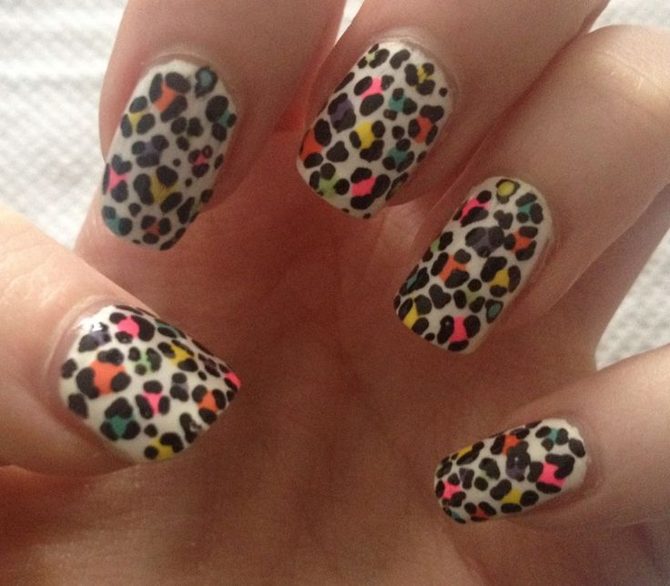 113 best leopardcheetah print nails images on pinterest colorful print nail ideas prinsesfo Image collections