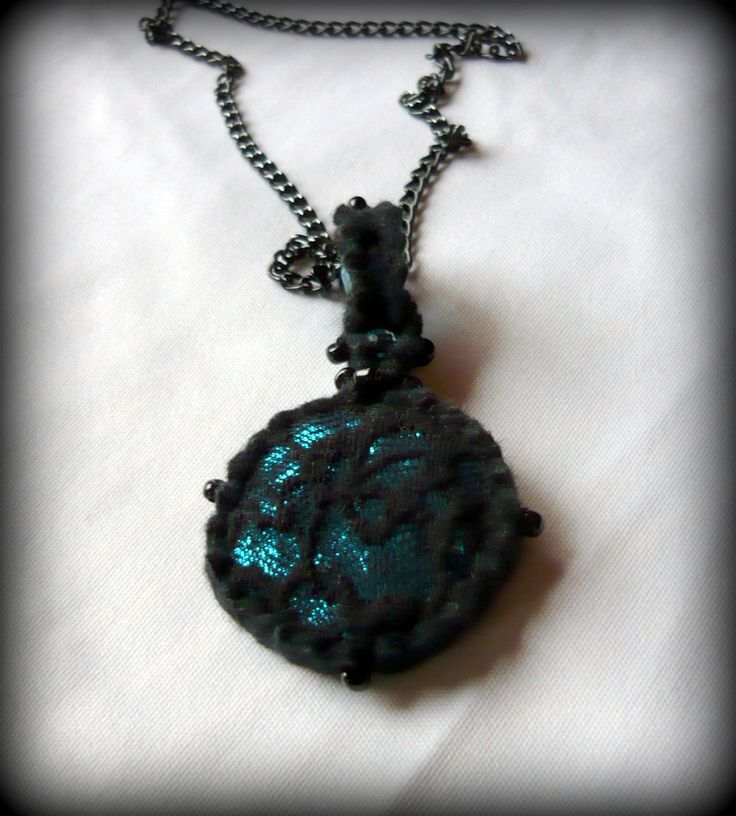 Handmade by Judy Majoros - Turquoise lace necklace.