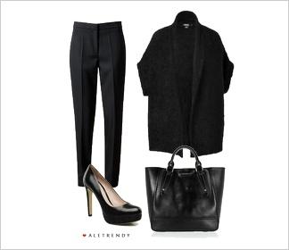 Zestaw ubrań Total look black    Black outfit