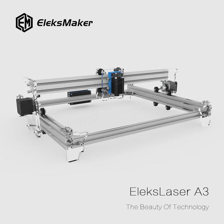 EleksMaker® EleksLaser-A3 Pro 5500mW Machine de gravure laser CNC Laser Printer Sale - Banggood Mobile