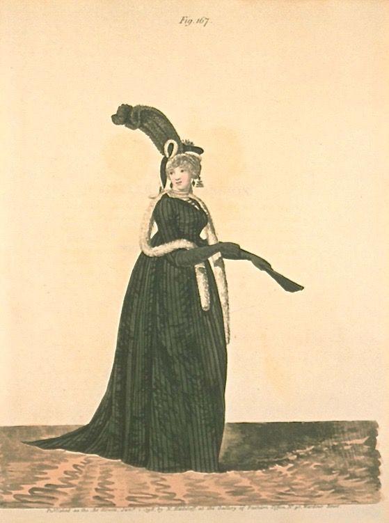 Evening Dress, January 1798, Gallery of Fashion