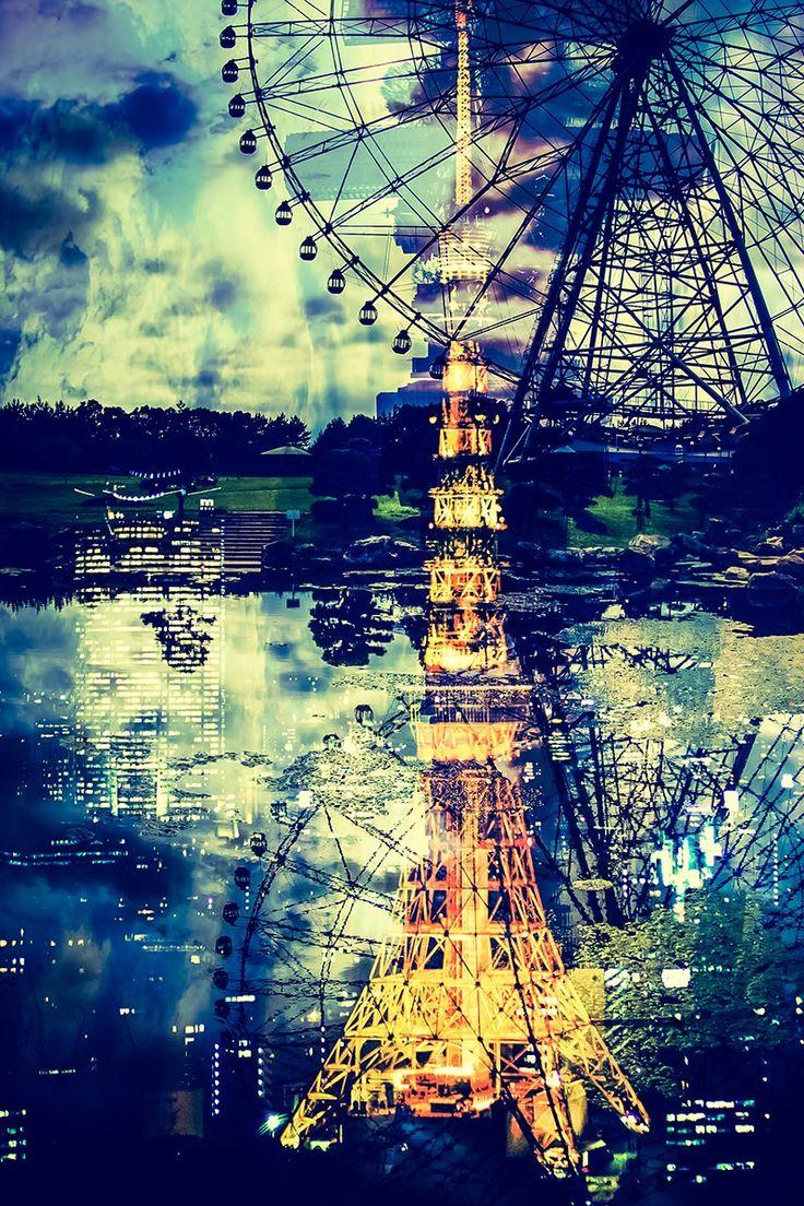 東京タワーと観覧車