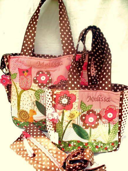 Conjunto de Bolsas Maternidade FLOWERS