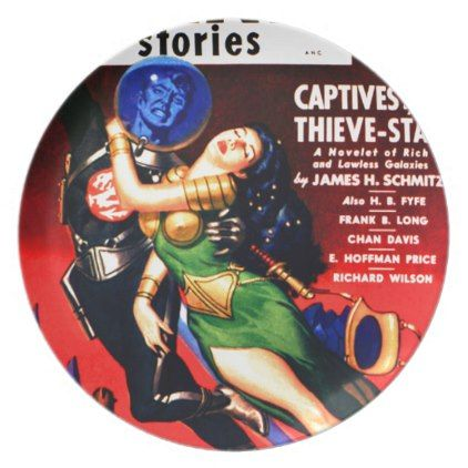 Captive of the Thieves Star Dinner Plate - retro kitchen gifts vintage custom diy cyo personalize