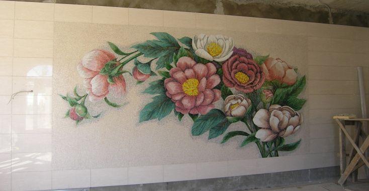 23 настенная мраморная мозаика
