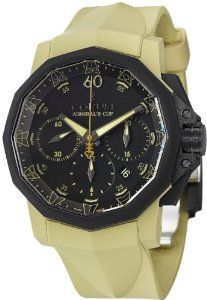 Corum Admiral's Cup Challenger 44 Chrono Men's Brown Rubber Strap Automatic Watch 753.817.02/F377 AN27