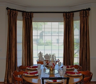 Dining room bay window treatments wanted to added window for Window treatments for bay windows in dining room