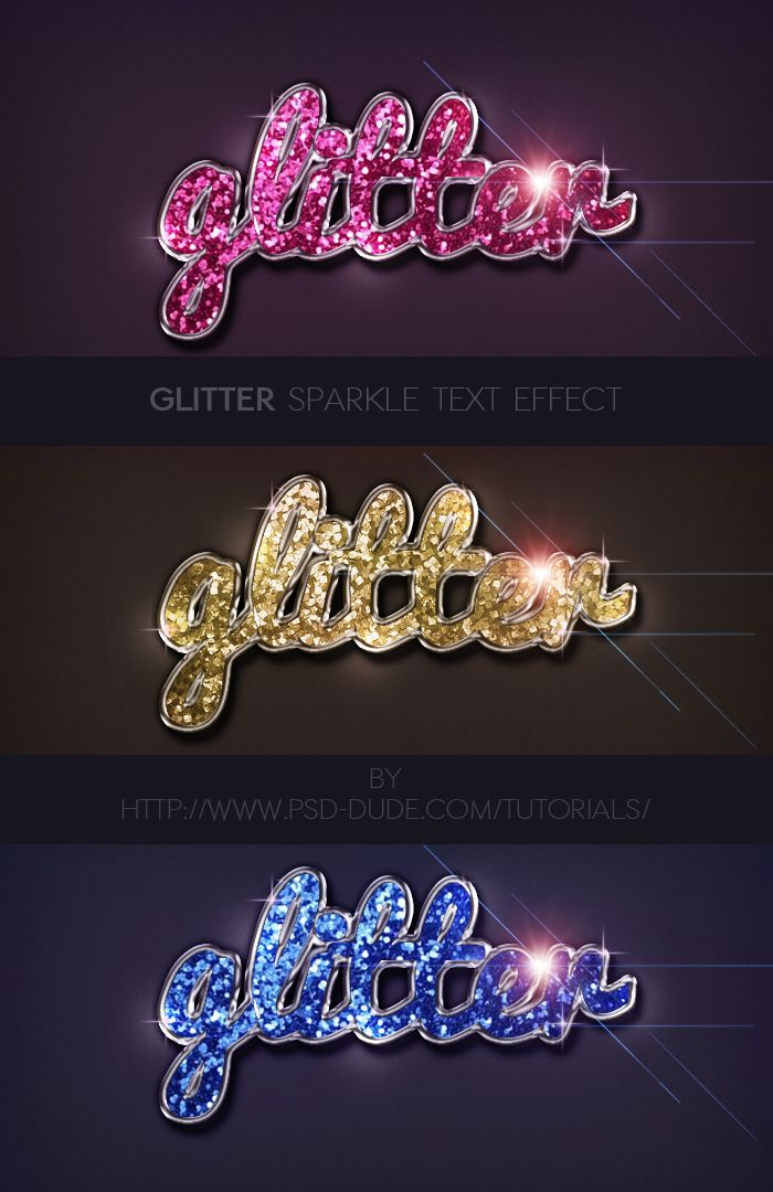 Glitter Sparkle Text Effect in Photoshop - Photoshop tutorial | PSDDude