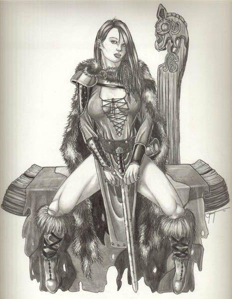 Viking женщины-воины Искусство викингов женщины по dravan