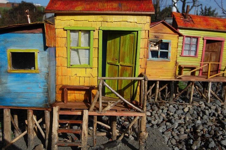 Maquetas de Casas Patrimoniales del Sur de Chile: Palafitos de Chiloé, Chile