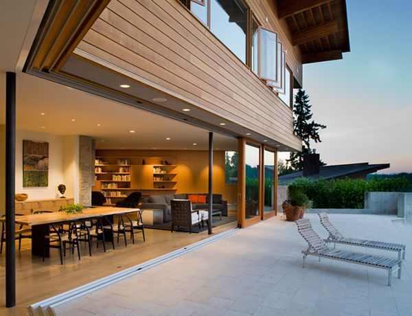 Love when the full wall slides open to make the patio your dining room: Peter O'Toole, Dream House, Outdoor, Parks, Space, Design, Peter Cohan