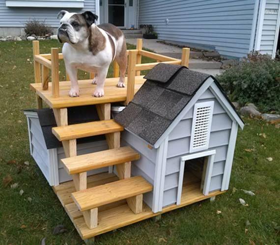 Ideas for making dog houses http://comoorganizarlacasa.com/en/ideas-making-dog-houses/ #crafts #DIYIDEAS #Doityourself #IdeasDIY #Ideasformakingdoghouses #manualidades