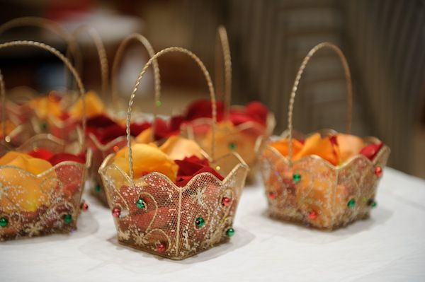 Thank your guests for blessing the newlyweds for a lifetime of bliss with these little baskets of wedding memorabilia. Share the joy.
