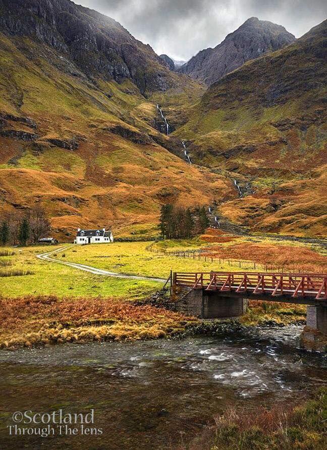 Glencoe the bridge to the falls