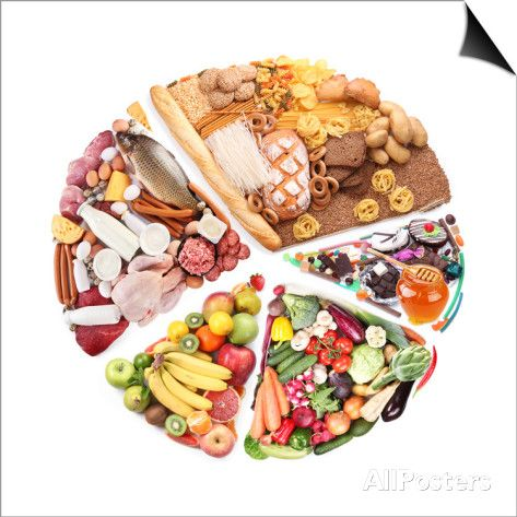 Food For A Balanced Diet In The Form Of Circle. Isolated On White Posters by Volff at AllPosters.com