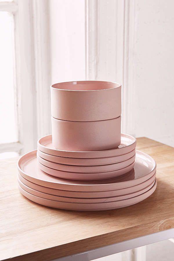 Slide View: 1: 12-Piece Modern Dinnerware Set