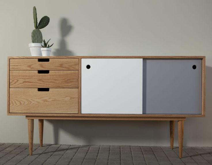 Lacquered sideboard FIDAR | Oak sideboard Rewind Collection by Kann Design | design José Pascal