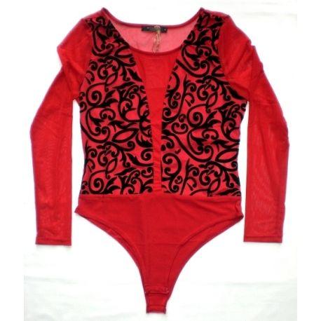 Body gotico rosso e nero