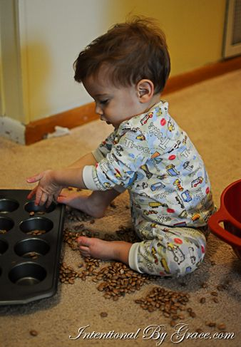 12 Indoor Toddler Activities {12-18 months} from IntentionalByGrace.com