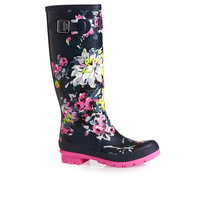 Joules Printed Tall Welly Multi Colour - From Surfdome (Size 4/5)
