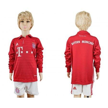 #Bayern München Trøje Børn 16-17 Hjemmebanetrøje Lange ærmer.222,01KR.shirtshopservice@gmail.com