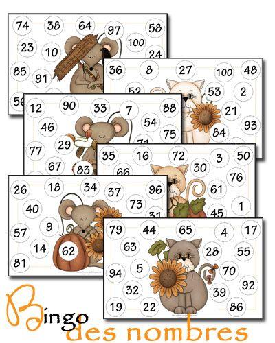 Au fil des jours: Bingo : Les nombres de 1 à 100 et de 100 à 200