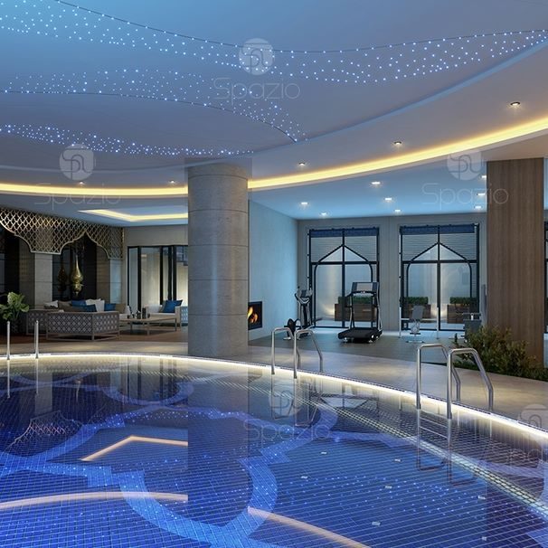 Luxury Indoor Swimming Pool Luxury House Interior Design House Architecture Design Moroccan Style Interior