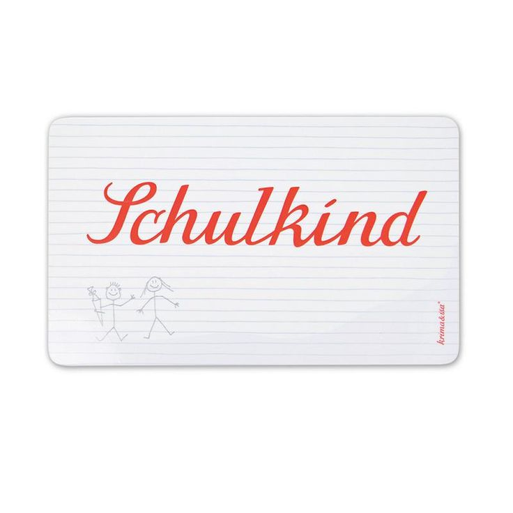 For any German speakers, this breakfast board would make a perfect gift (Schulkind = school child)