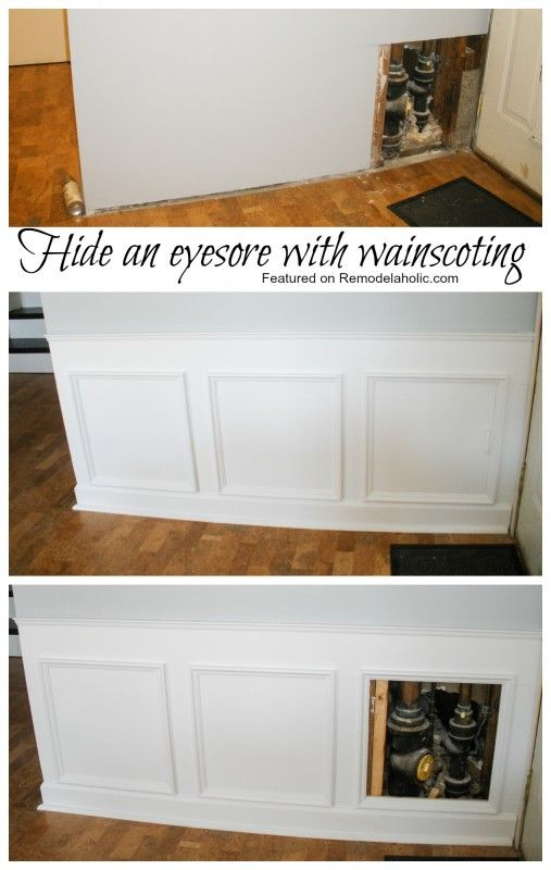 How to hide an eyesore with wainscoting