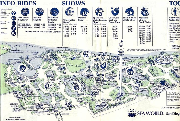 Sea World San Diego map 1980Hometown San Diego, Sil Magnífica, Theme Parks, Parks Maps, Maps 1980, Schools Shit, Sea World, Diego Maps
