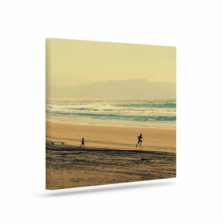 "Robin Dickinson ""Take Me To The Sea"" Teal Brown Canvas Art"