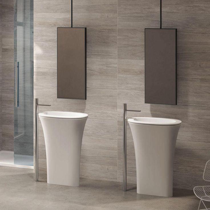 Free-standing washbasin / round / ceramic / contemporary AMEDEO by Karim Rashid Ceramica Cielo