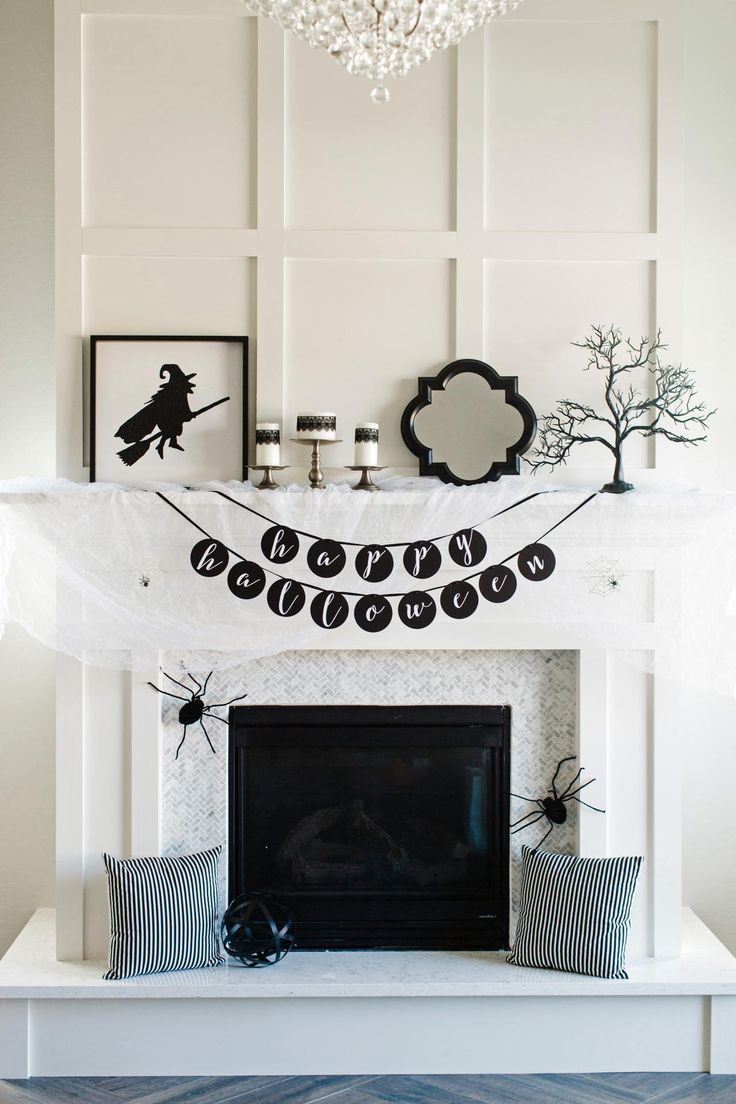 one halloween mantel decorated 3 ways spooky glamorous and classic